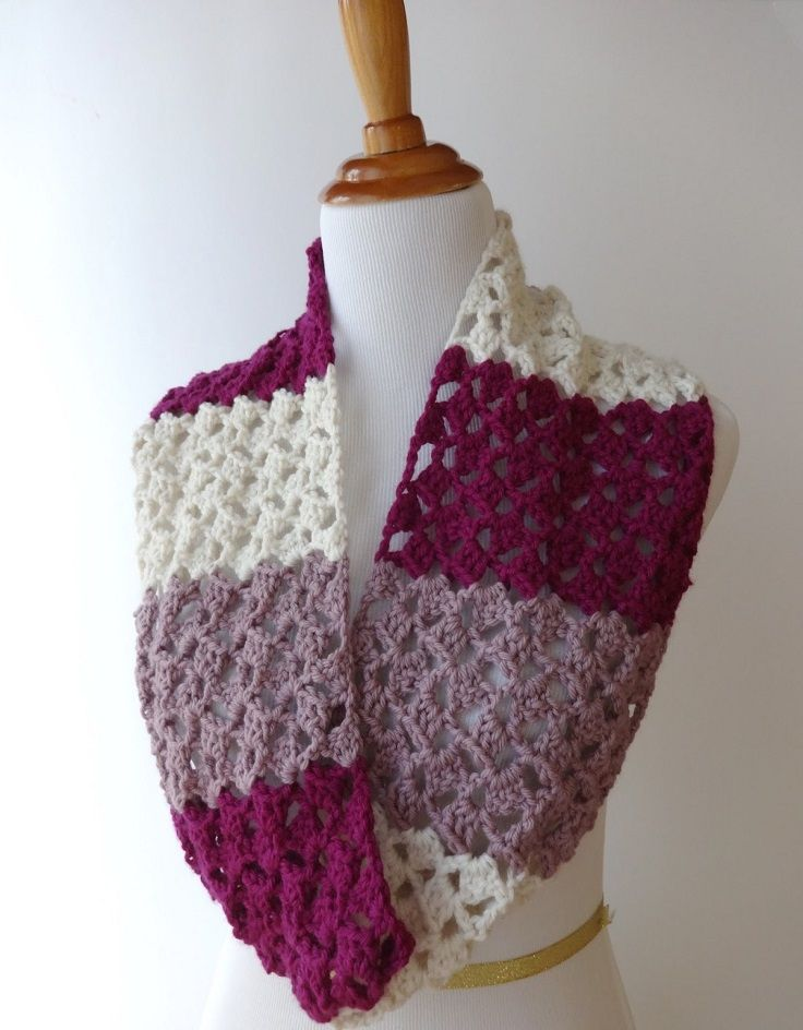 Top 10 Beautiful Free Crochet Scarf Patterns | Tejido, Chalinas ...