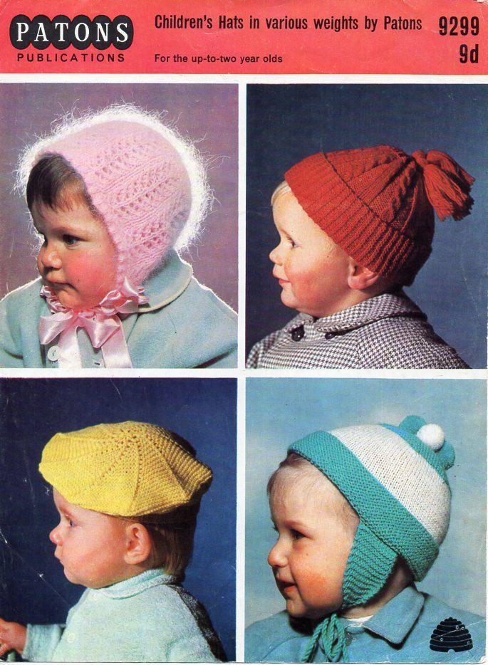 Baby Hats Knitting Pattern Pdf Baby Bonnet Beret Cap Helmet 3ply