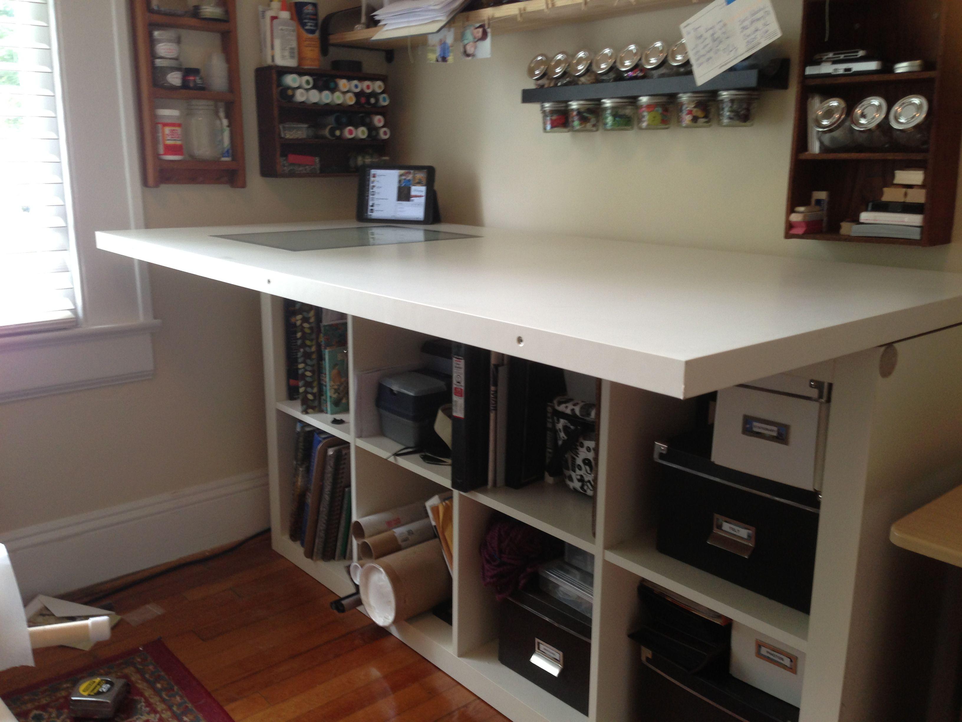ikea hack desk expedit images. Black Bedroom Furniture Sets. Home Design Ideas