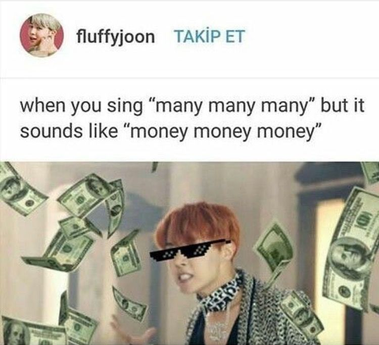 Also He S Singing Manhi Which Is Korean For More Which Is Why It Sounds Like Money Bts Bangtan Boy Bts Funny Bts