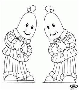 Bananas In Pajamas Coloring Pages Banana In Pyjamas Bananas And