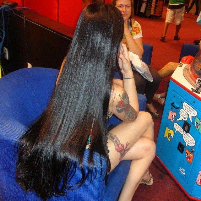 Hair black beautiful long