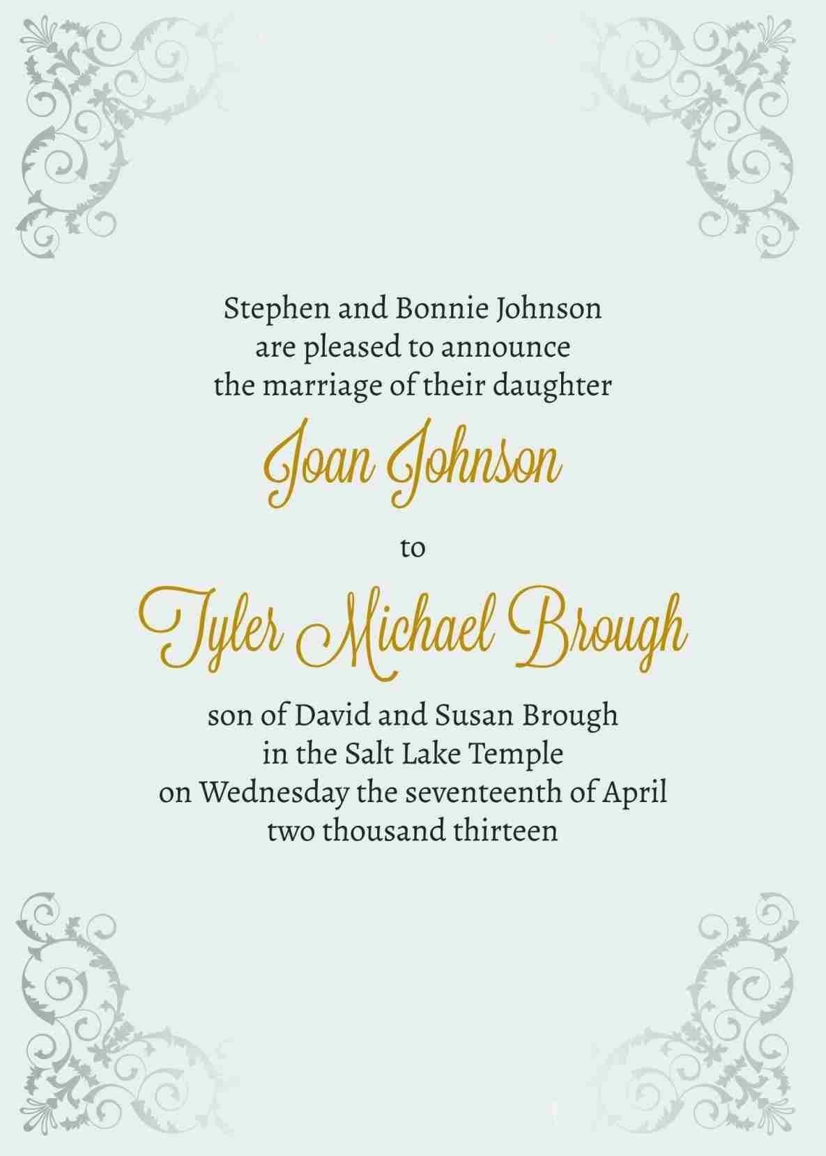 marriage invitations