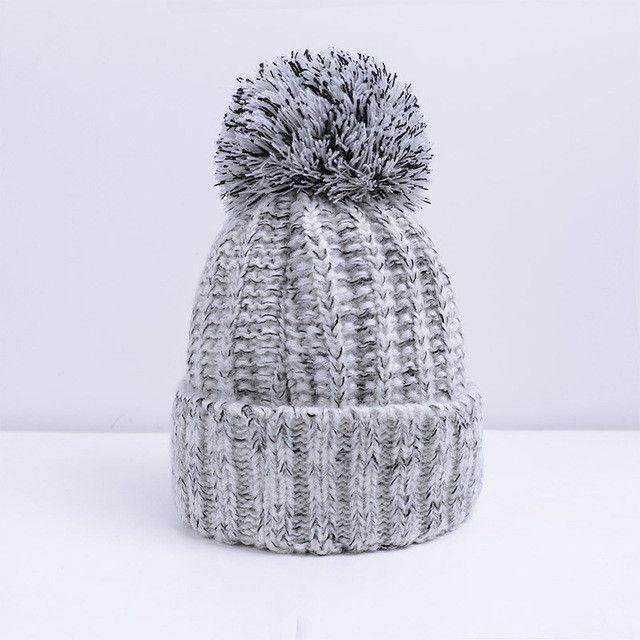 9b7032d99d6 Fashion Women Winter Hat For Women Skullies Beanies Warm Knitted Hat Female  Cotton Winter Cap Brand Women Beanie Hat Wholesale