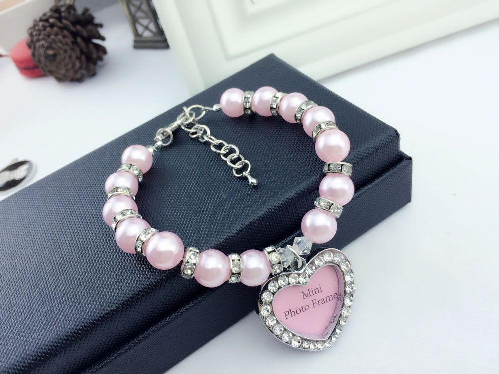 Cute Pearl Pet Necklace With ID Tag Pet necklace, Pet