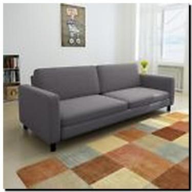 Kanapee Sofa sofa kanapee strukturstoff grau 3 sitzer neuwertig 2017 in
