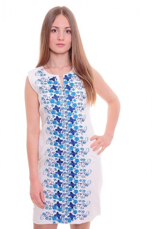 Платье А4689 Размеры: 42-48 Цвет: белый + синий Цена: 600 руб.  http://optom24.ru/plate-a4689/  #одежда #женщинам #платья #оптом24
