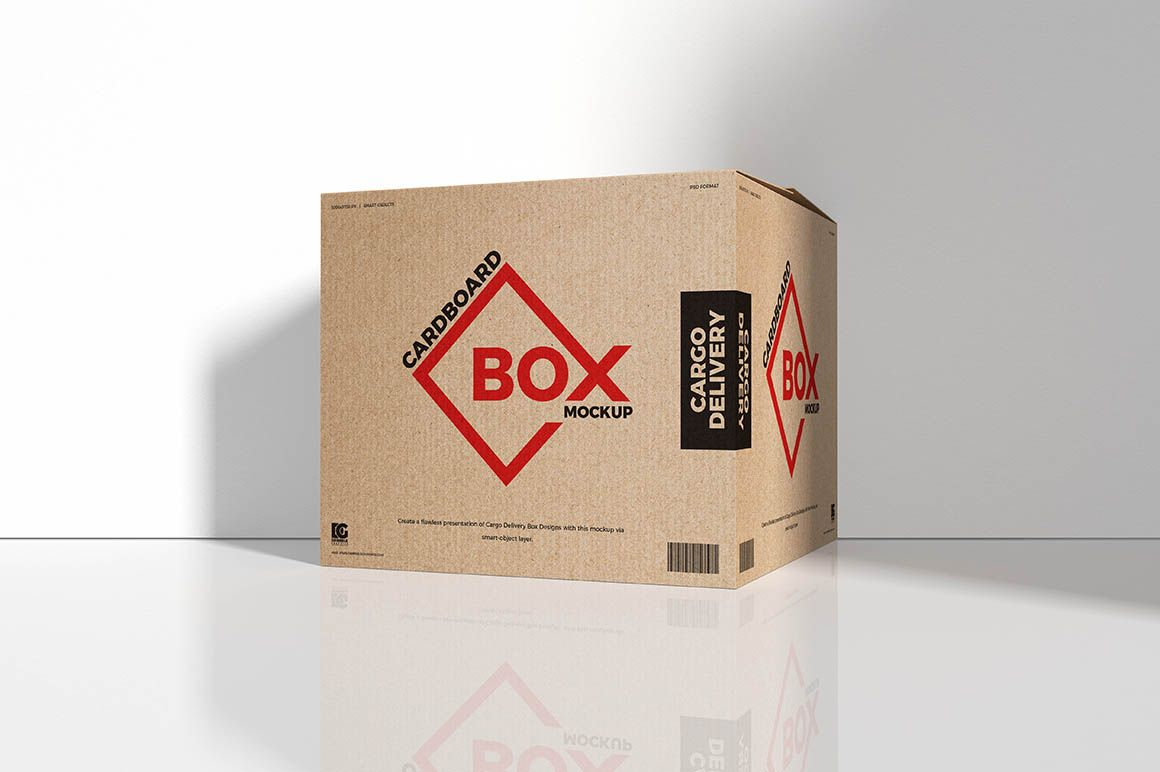 Download Big Cardboard Box - Free Mockup in 2020 (With images ...
