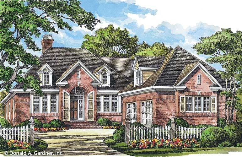 Home Plan The Godfrey By Donald A Gardner Architects American Houses House Plans Brick House Plans