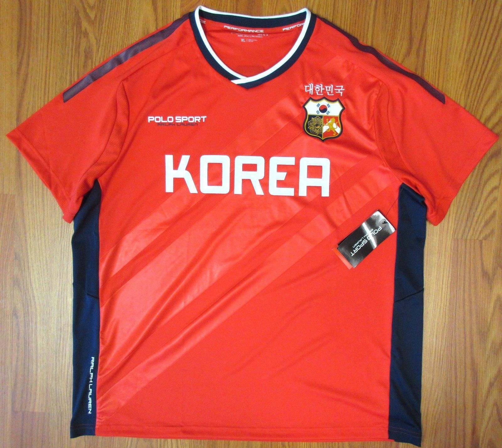 POLO SPORT PERFORMANCE RALPH LAUREN SOUTH KOREA SOCCER JERSEY XL X-LARGE d666eb397