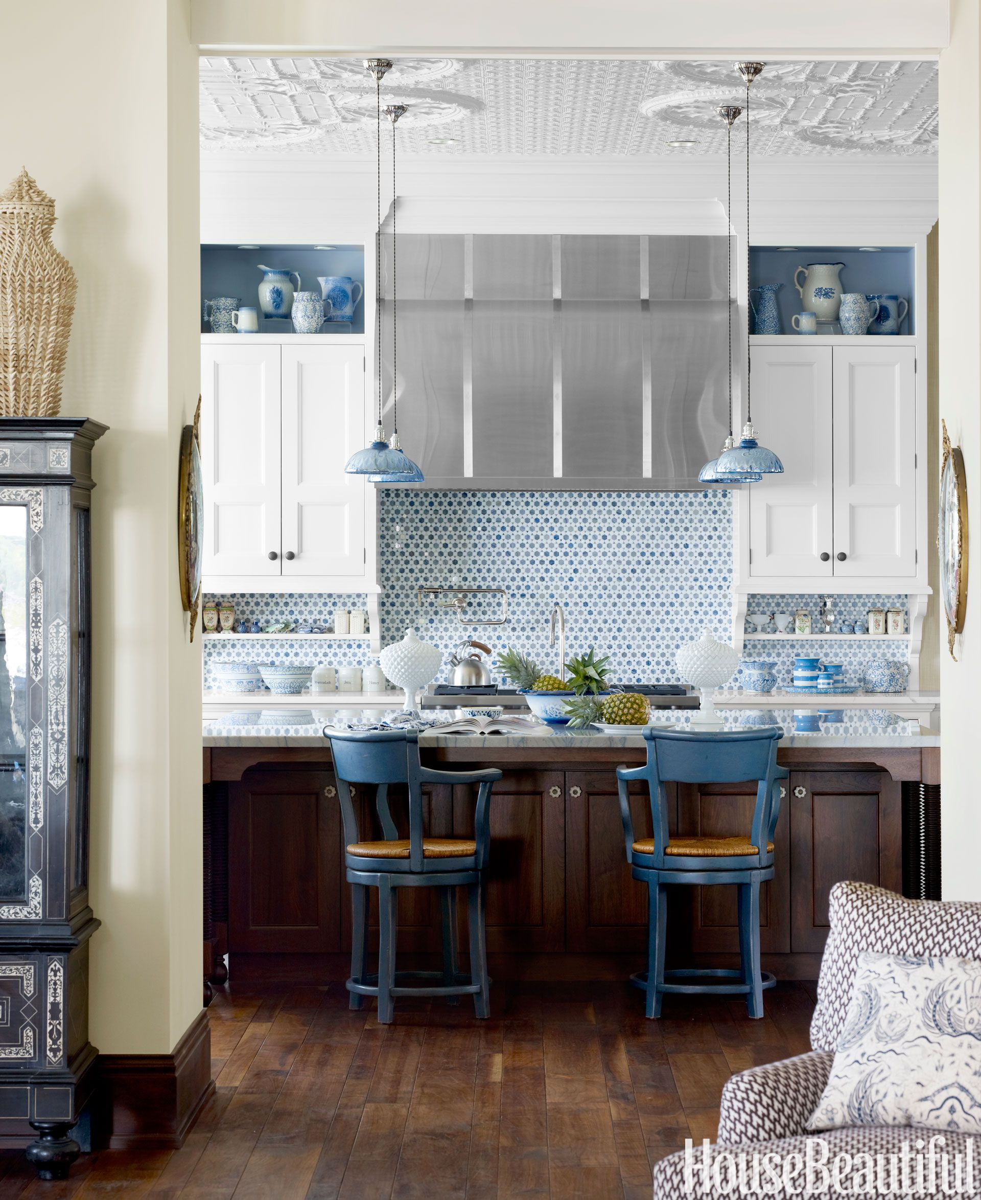 Little blue pendants also these light fixtures will totally transform your kitchen designs rh ar pinterest