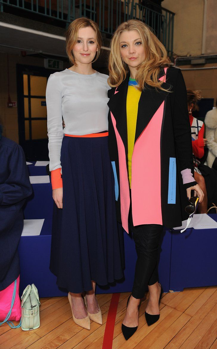 Pin for Later: The Burberry Front Row Upped the London Fashion Week Ante Laura Carmichael and Natalie Dormer Downton Abbey met Game of Thrones when these two beautiful ladies met up at the Roksanda show. Both wore colourblock creations by the designer.