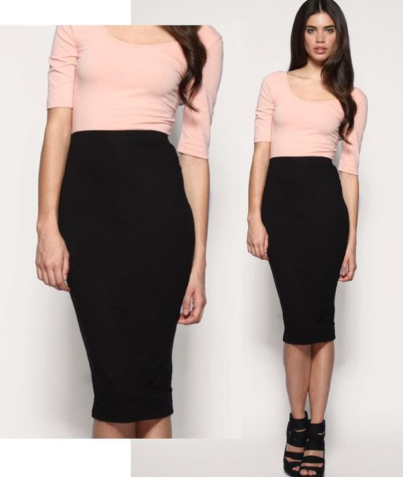 Black Tight Pencil Skirt