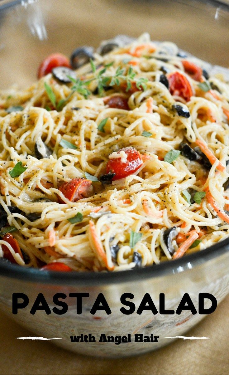 Angel Hair Pasta Salad Recipe The Gifted Gabber Blog Pasta