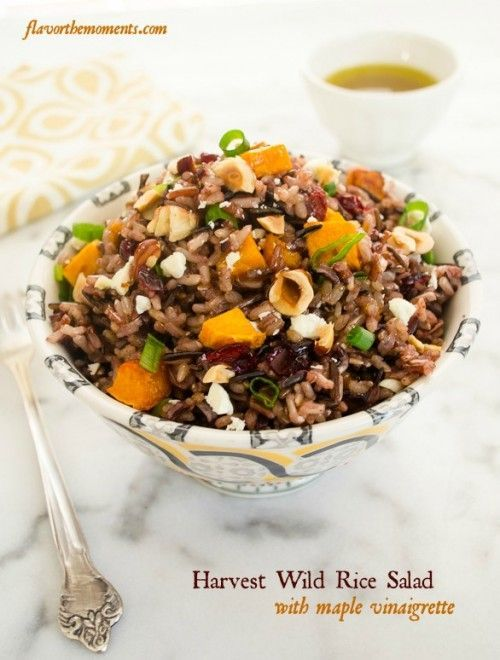 harvest-wild-rice-salad-with-maple-vinaigrette1 |  flavorthemoments.com
