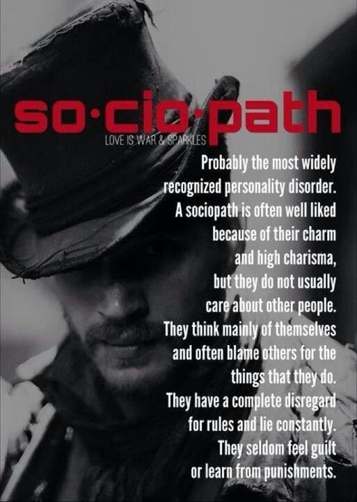 What is the definition of a sociopath