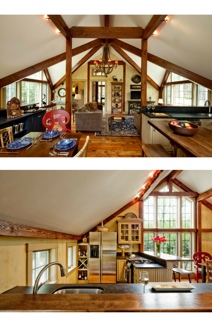 Small barn house plan, The Bennington, packs a lot into a smaller footprint. Visit to see more, including floor plans. #barnhouseplans