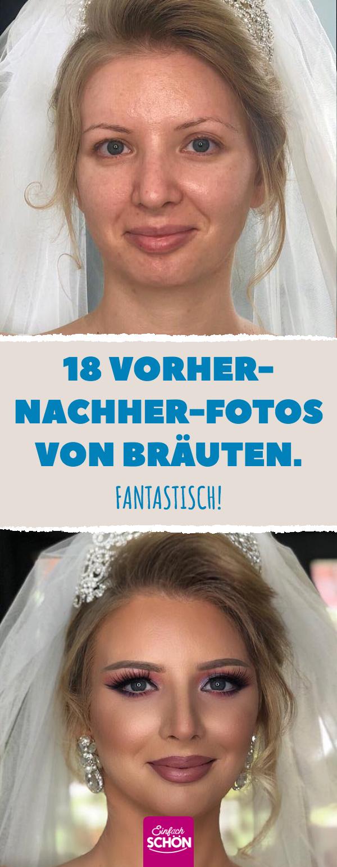 18 Vorher-nachher-Fotos von Bräuten.