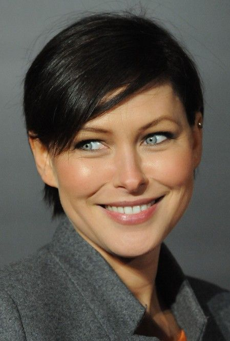 Surprising Emma Willis Short Haircut Sexy Boyish Hairstyle With Side Swept Hairstyle Inspiration Daily Dogsangcom