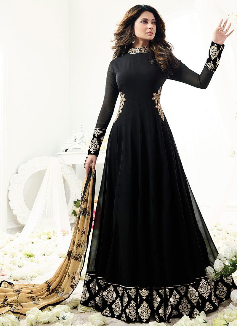 Buy Jennifer Winget Black Georgette Anarkali suit online c43a53006
