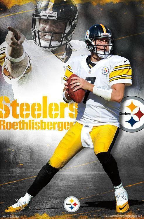 Nfl Pittsburgh Steelers Ben Roethlisberger 2012 Poster Nfl Futball Americano Futbol Americano