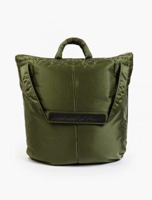 The Porter-Yoshida & Co Olive Tanker Helmet Bag back