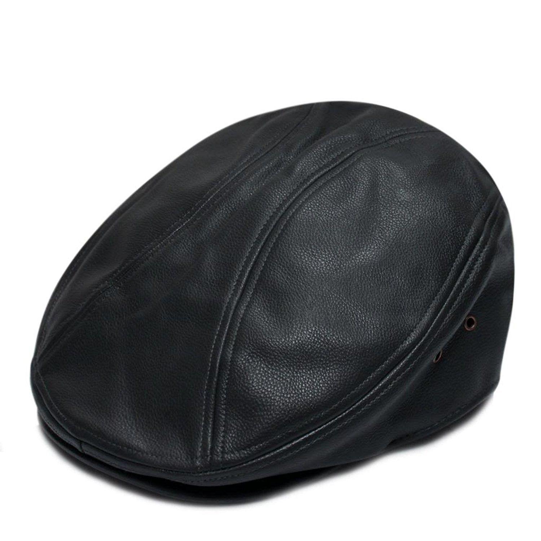 Pml1200 Pamoa Faux Leather Escot Ivy Cap (3 Colors) - Dark Grey -  CJ11H5QOF7D - Hats   Caps 0568b8fb3f31