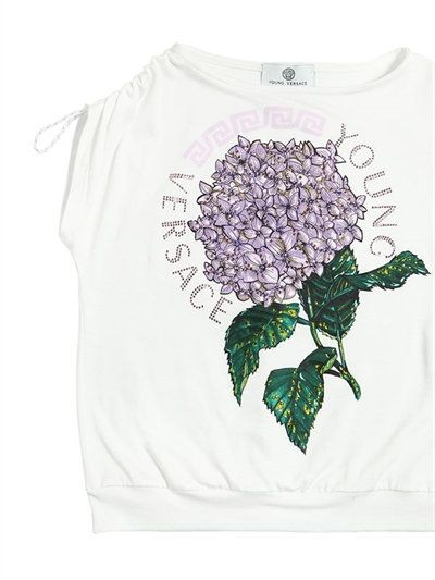 젊은 판사체 - 매지 및 프린트 저지 티셔츠 - 티셔츠 & 탱크 - 화이트 - 루시 아나 로마