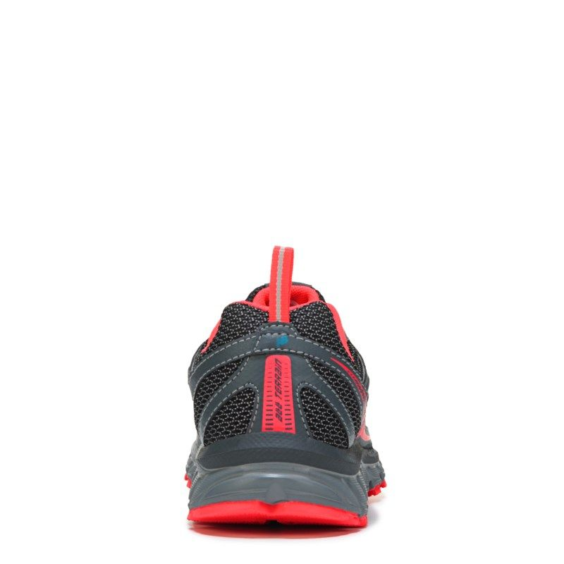 311475e7d7d2 New Balance Women s 610 V4 Medium Wide Trail Running Shoes (Grey   Fire  Coral)