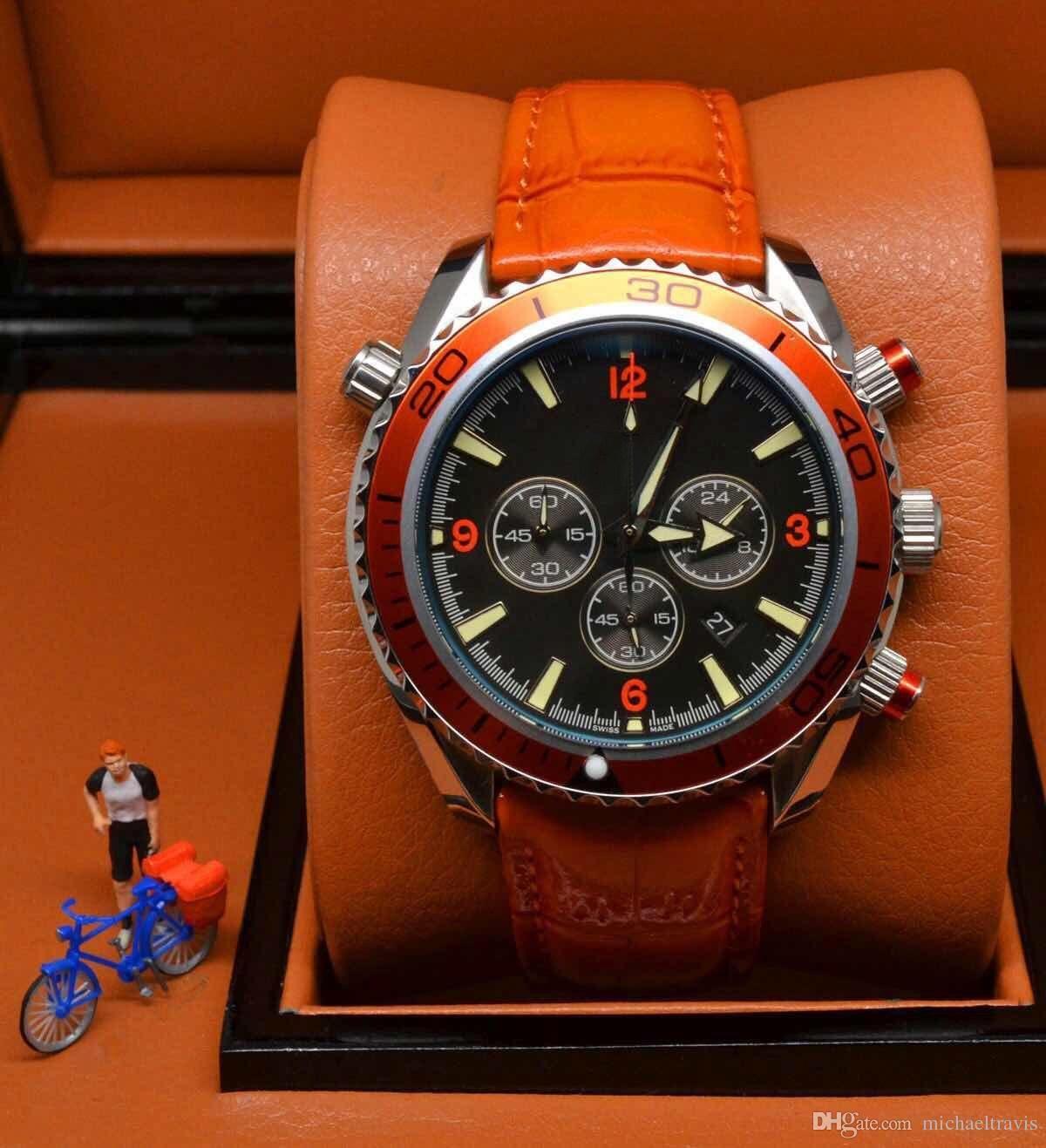 Luxury Brand Sports Quarz Mann Uhr Professionelle Planet Ocean Co Axial Dive Armbanduhr Original Schließe