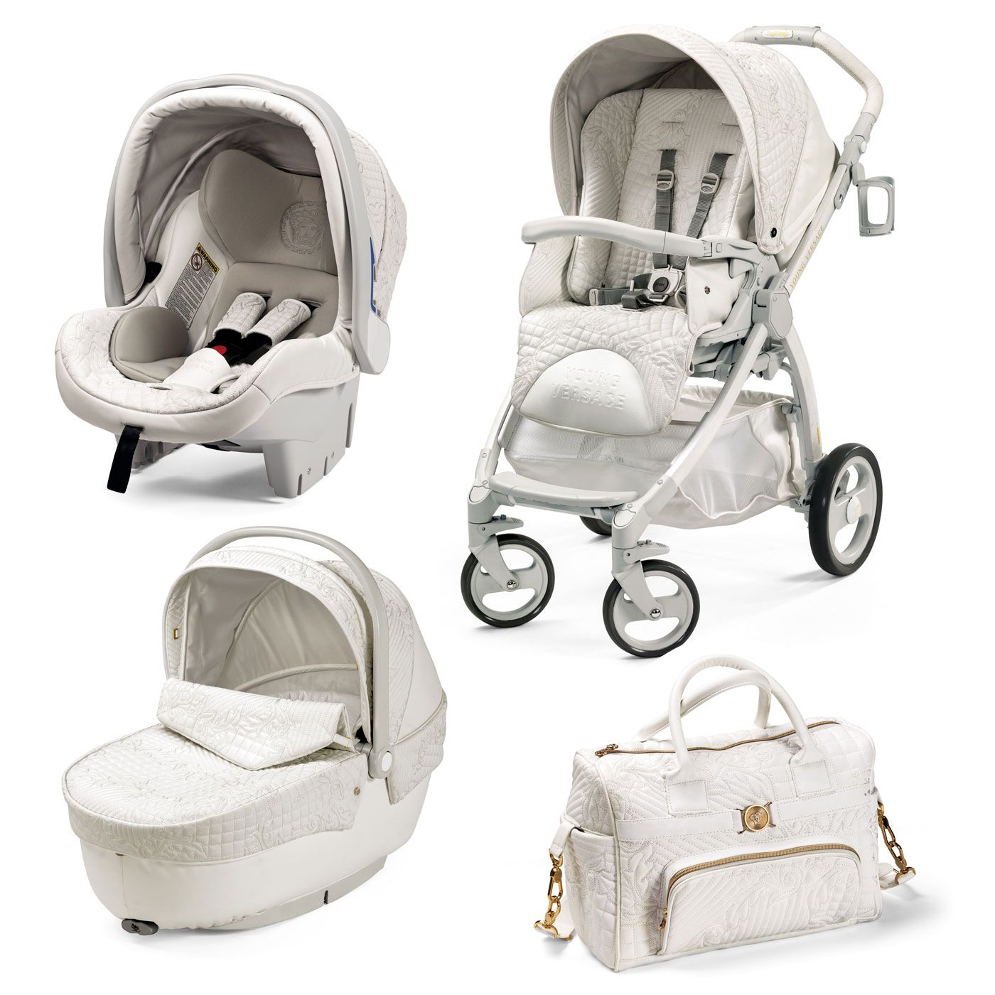 I share Young Versace Stroller White with Pinterest from Babyshop item page