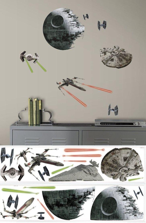 Star Wars Vi Raumschiffe Wandtattoo Pvc Bunt 29 X 13 X 2 5 Cm
