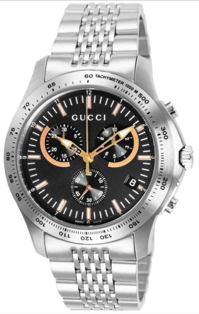 64ce876b161 GUCCI Watch G-TIMELESS Stainless Steel Black Dial Men s watch YA126257