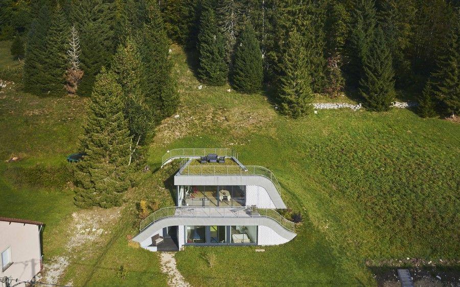 maison en beton brut - Recherche Google  Maison enterrée, Maison