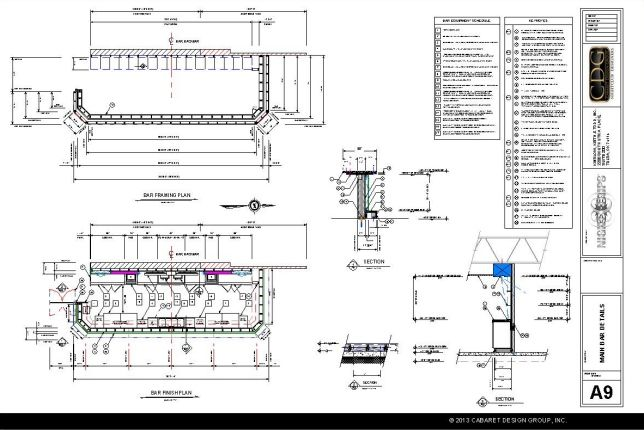 Bar Design Clients Of Cabaret Design Group Receive A Full Set Of  Architectural Plans That Includes
