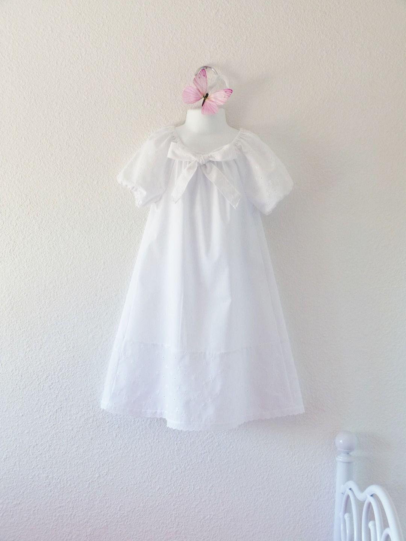 détaillant en ligne 3a0b9 5ead7 Chemise de nuit fille blanche,rétro, vintage, romantique ...