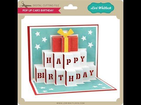 Happy Birthday Cake Pop Up Card Tutorial Youtube Birthday Card Template Birthday Cards Unique Birthday Cards