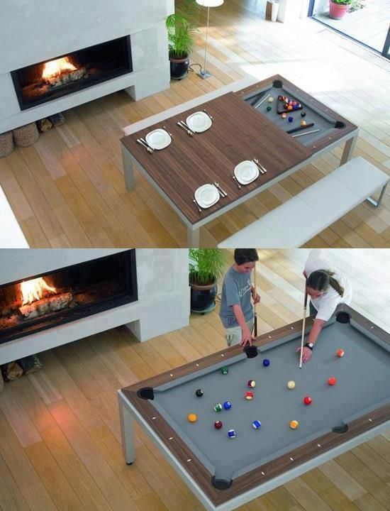 Another Pool Table That Turns Into A Dining Table P Prepossessing Dining Room Pool Table Inspiration Design