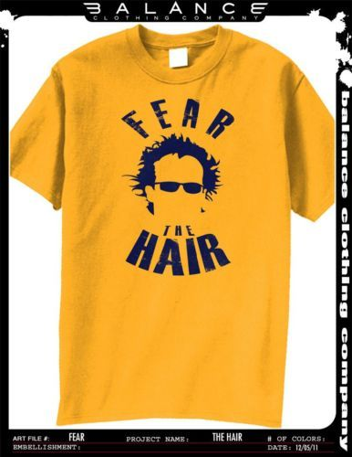 10693235c Fear the hair t-shirt wvu west virginia mountaineer orange bowl ...