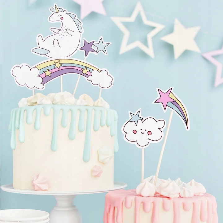 Toppery Na Tort Jednorozec 5szt Urodziny Party Cakes Cake Unicorn Party