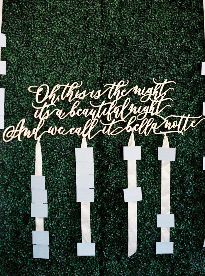 Disney-inspired wedding details - wedding quote #weddingdetails #weddingdecor #seatingchart