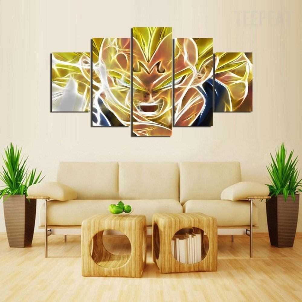 Majin Vegeta - 5 Piece Canvas Painting | Canvases and Products