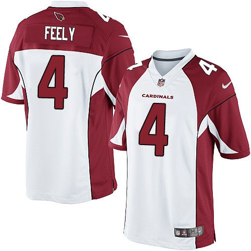 limited jay feely mens jersey arizona cardinals 4 road white nike nfl