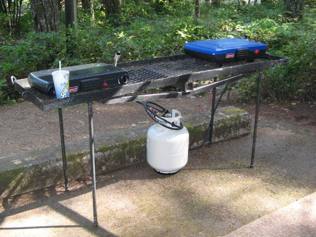 Hitch Mounted Cargo Tray Table