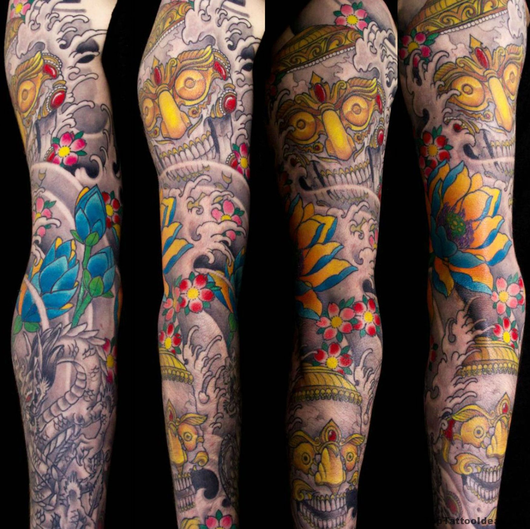 Chinese Style Sleeve Tattoo Idea Top Tattoo Ideas Chinese Sleeve Tattoos Half Sleeve Tattoo Sleeve Tattoos