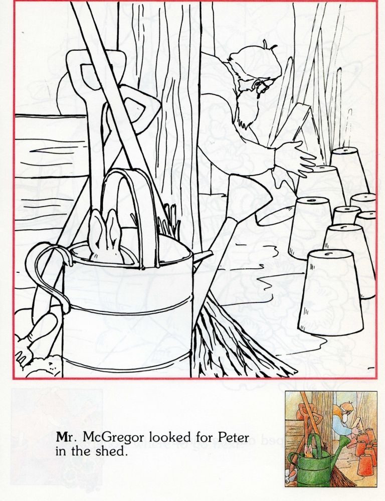 mr mcgregor looked for peter in the garden shed