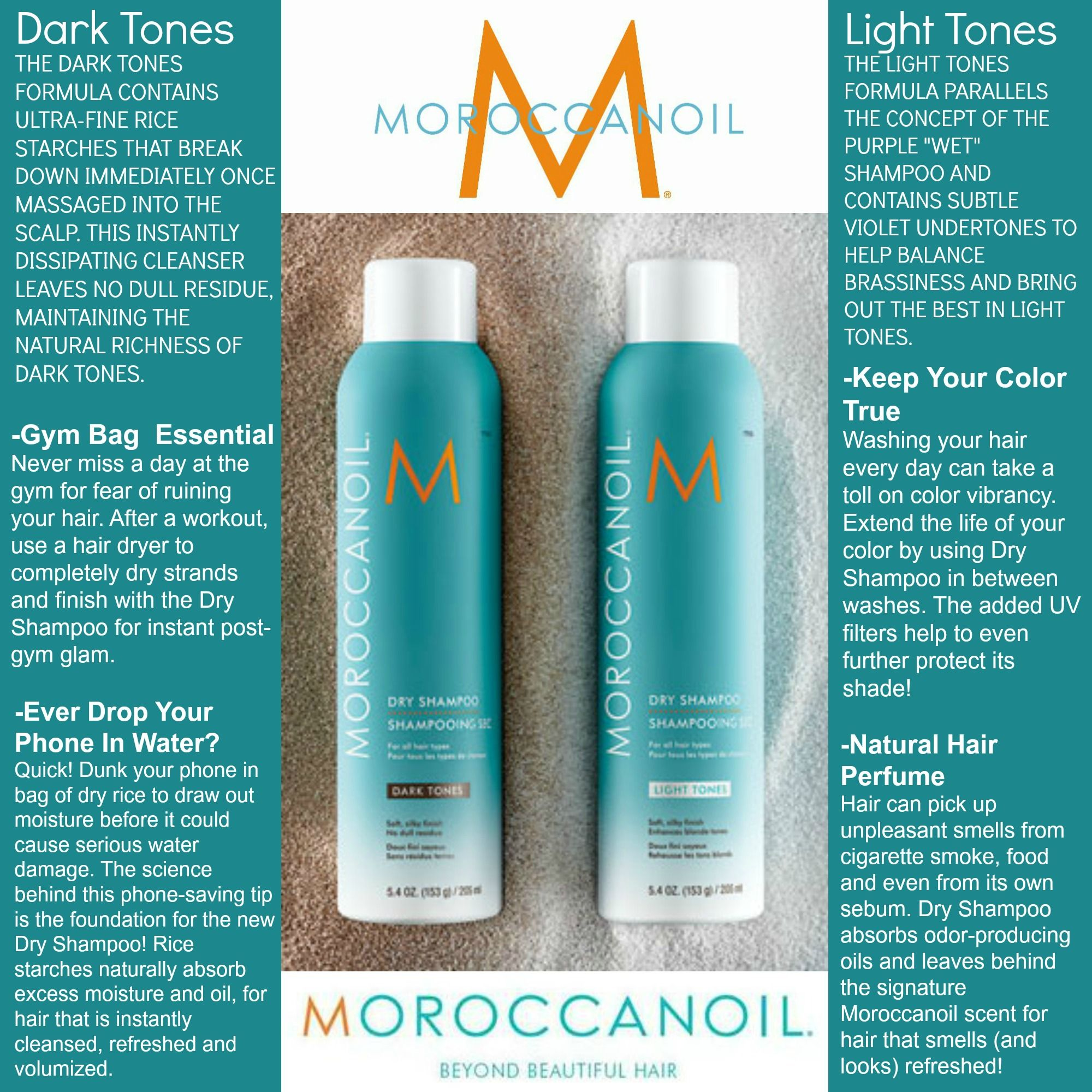 New From Moroccanoil Dry Shampoo For Blondes And Brunettes Moroccan Oil Shampoo Dry Shampoo