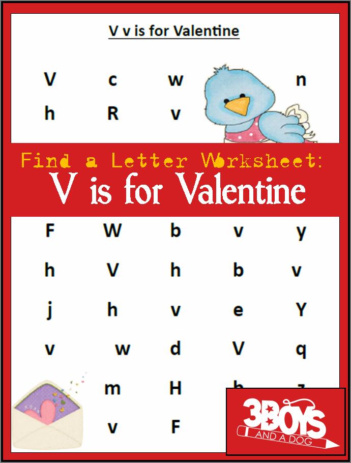 Find the Letter Printables: V is for Valentine ...