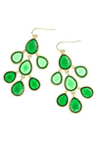 Emerald Teardrop Earring <3 317 Boutique.
