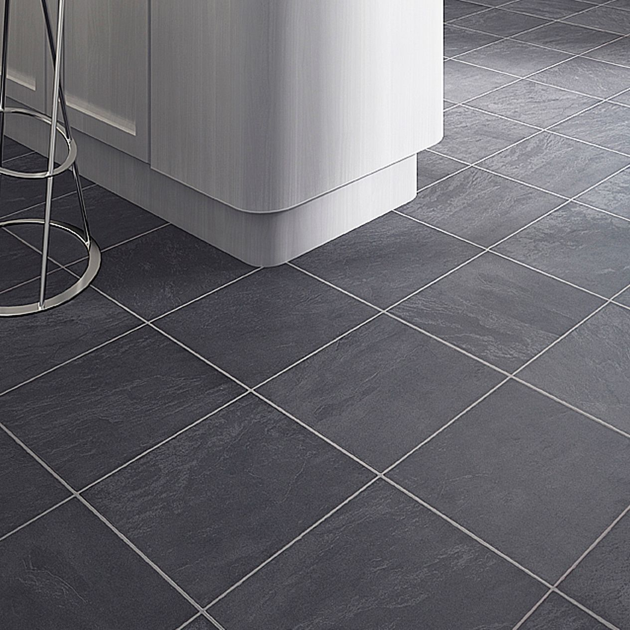Black slate tile effect laminate flooring for kitchens http colours leggiero laminate flooring slate tile effect ceramic or porcelain tile flooring is very durable as well as a great dailygadgetfo Gallery
